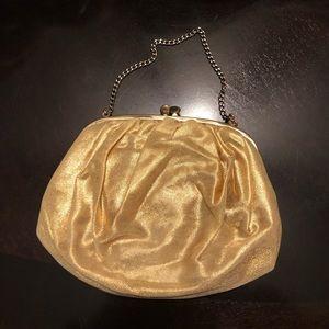 Ingber Vintage Gold Handbag with Coin Purse